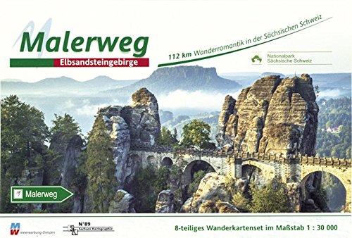 Malerweg - Sächsische Schweiz: Wandertourenführer 1:30000