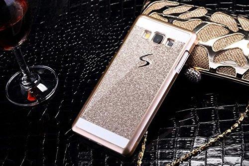 Vandot 3 in 1 Set Accessori Lusso Ultra Thin Sottile Bling Case Hard Back PC Custodia Cover per Samsung Galaxy Note 3 N9000 Premium Matt Protezione di Manualmente Diamonds Cristallo Glitter Protettiva Gold