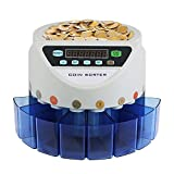 Ztopia Money Coin Counter 300 coins/min Currency 45W Coin Counting Machine Counter New