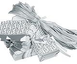 100tlg Gastgeschenke Kartonage Hochzeit Geburtstag Party Geschenkbox Tischkarten Box Silber