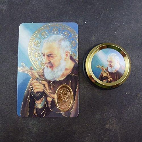 Katholische St. Padre Pio Auto Magnetisch Selbstklebend Gold