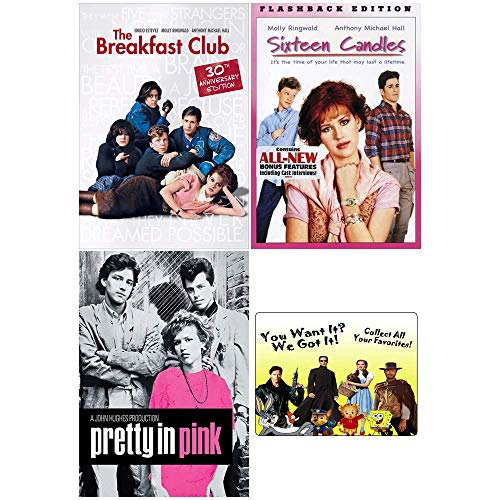The John Hughes Classics Collection: Molly Ringwald Edition - 3 Movies (The Breakfast Club / Sixteen Candles / Pretty In Pink) + Bonus Art Card