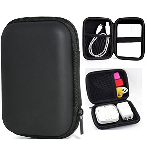 Doutree 2018 Tragetasche Abdeckung für 2,5 '' USB HDD Festplatte Ladegerät Headset (Schwarz) (Cube Carry Case)
