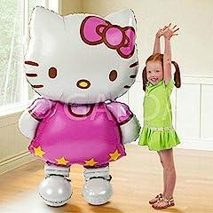 Idea Regalo - Galda. Hello Kitty palloncino gigante XXL per compleanno/feste, uso con Elio o Aria, 110x 65cm