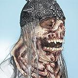 HOMEE Halloween Ghost abrite une atmosphère de terreur et de casquettes décorées Props Émulation Biochimiques Coliform Zombie masques, Kwan charnue,Hex Squelette Silver Ghost