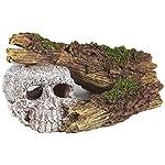 Pet Ting Sunken Skull and Broken Log Aquatic Ornament - Aquarium Decoration - Vivarium Decoration 5