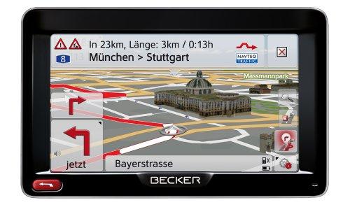 Becker Professional 50 LMU Navigationsgerät (12,7 cm (5'') Bildschirm, 44 Länder vorinstalliert, HQ TMC, Becker SituationScan, Lebenslange Kartenupdates, OneShot Sprachsteuerung) schwarz/silber