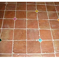 Verpackung /& Versand vorbehandelt inkl Sable Rose Musterfliesen 14 x 14 oder 16 x 16 x 2 cm Joel Pave Jerzual Cotto Hof
