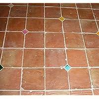 Cotto Hof Ladrillo Musterfliese 30 x 30 x 2,5 cm inkl Versand und Verpackung vorbehandelt