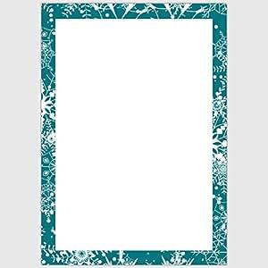 """Designpapier """"hiver bleu cadre de glace», dIN a4, 25 feuilles"""