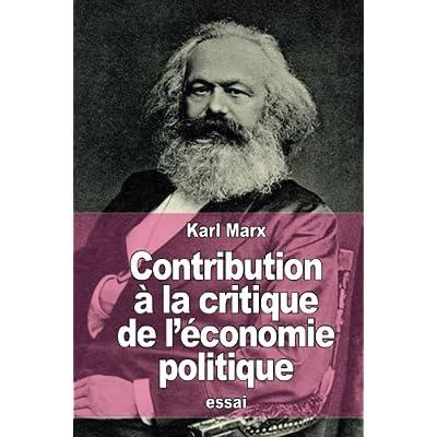 Contribution à la critique de l'économie politique