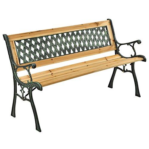 ArtLife Gartenbänke aus lackiertem Holz und Gusseisen in 3 Varianten