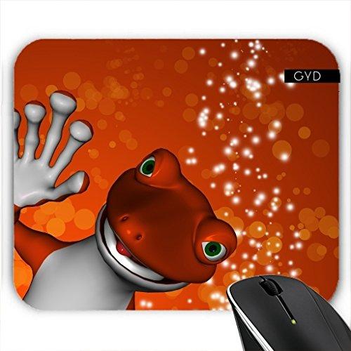 Muismat - Divertente Gecko Rosso by
