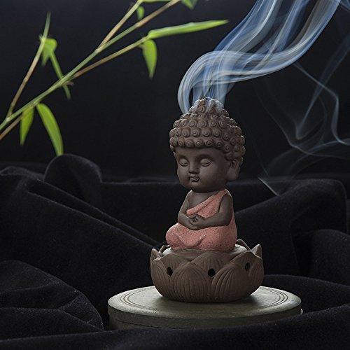 creative Zen argilla Viola piccolo buddista Bruciatore di incenso incenso