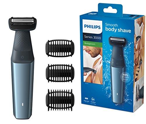Philips Bodygroom Series 3000 hautfreundlicher Körperrasierer BG3015/15 (inkl. 3 Kammaufsätze)