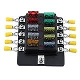 Swiftswan 10 Way Sicherungsklemmen Box DC 32V Circuit Examination Reparatur Sicherungsscheiben (Farbe: Schwarz)