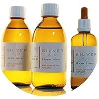Preisvergleich für PureSilverH2O 600ml Kolloidales Silber (2X 250ml/10ppm) + Pipettenflasche (100ml/10ppm) Reinheit & Qualität seit...