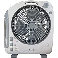 Jetrad 12V Ricaricabile, Refrigeratore Portatile Ventilatore/Radio/Led/Spia Luminosa & Indicatore
