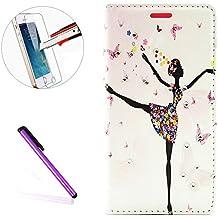 LG G4funda, LG G4Slim diseño geométrico Fashion de diseño moderno, '[mariposa hada] [flor] con incrustaciones brillante Glitter Diamond PU Funda de piel protectora con soporte para LG G4, + 1protector de pantalla + 1piezas lápiz capacitivo lápiz táctil., color G-Dance Girl
