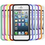 iTALKonline Apple iPhone 5S (2013) iPhone SE (2016) 10 Stück LILA ROT Grün BLAU GELB SCHWARZ Weiche Silikon Schutz Armour Skin Hülle Shell