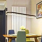 Moderna lampada a sospensione LED lampada a sospensione ciondolo on line apparecchi abajour per sala da pranzo soggiorno camera da letto cucina salone, Dia 700mm 36W, interno bianco caldo, corpo nero