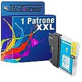 PlatinumSerie® 1x Tintenpatrone XXL mit Chip kompatibel für Brother LC980 LC985 LC1100 Blau DCP-J 125 DCP-J 140 W DCP-J 315 W DCP-J 515 W