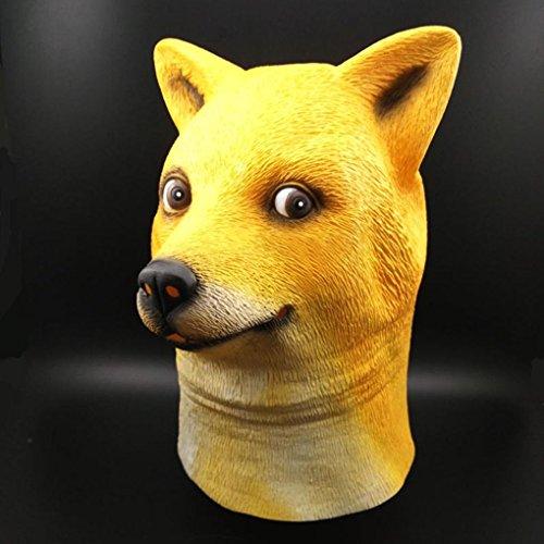 LUFA Halloween Maske Neuheit Latex Hund Kopf Maske Kostüm Party Latex (Halloween Für Und Schnelle Hunde Kostüme Einfache)