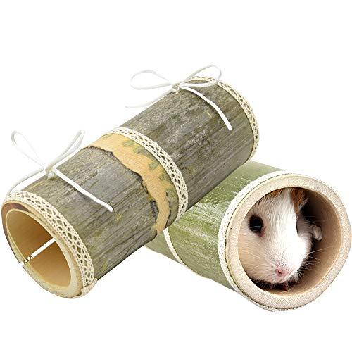 Furpaw 2 Pièces Jouet Hamster, Forme de Bambou en Bois...