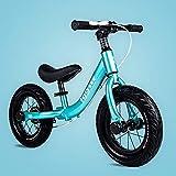 AMYDREAMSTORE Premium Bébé Draisienne Runner Aucun vélo pédale, Bébé Enfants Vélo de Diapositive sans pédale Exécuter Scooter vélo 2-6 Ans Poussette bébé Balance Coureur-Bleu 56x92cm(22x36inch)