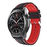 Ansenesna Neue Mode Sport Silikon Sportuhr Smartwatch Einstellen Armband für Samsung Gear S3 Frontier 2018 (Rot)