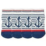 LvRao Katzen Hund Socken Gestreift Haustier Schuhe Pfote Protektoren Antirutsch Stiefel Innen Winter (Blau, S (6.0*2.5cm))
