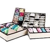 Gearmax® 4pcs tela sin tejer ropa interior ordenado práctico caja calcetines cortos cajón lazos guardatodo bolsa organizador