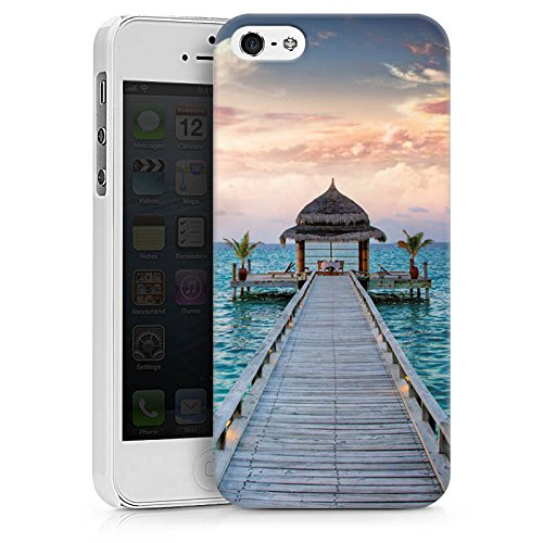 Apple iPhone X Silikon Hülle Case Schutzhülle Steg Urlaub Meer Hard Case weiß