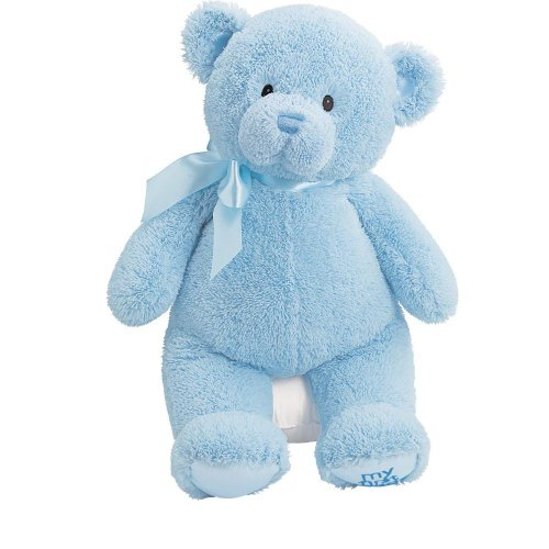 Gund 21035 Peluche My First Teddy Grand Ours Bleu Polyester 45,5 cm