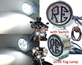 #5: 2x RE 4LED Work Light/Driving Fog Spot Lamp with switch for Royal Enfield Bullet