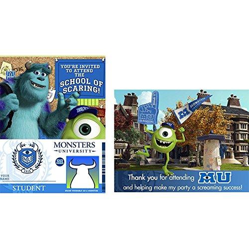 Monster AG 8 Stk Einladungskarten und Kuverts