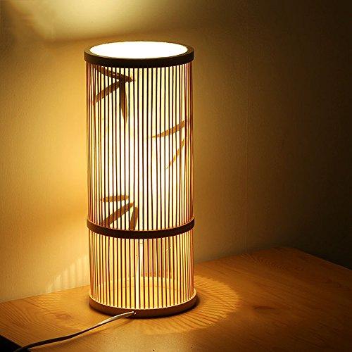 LZDHY Lámparas de madera originales de bambú de la tabla Dormitorios Lámparas de la cabecera Dormitorio de los niños Luces de la habitación Patrones de la flor Regalos de Navidad de Halloween Luces de escritorio ( Color : Style B )