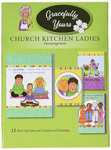 Anmutiges Yours 148Kirche Küche Damen Ermutigung Grußkarten, 12, 4Designs/3Jedes mit Inspirierende Botschaft Botschaft Usa