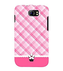 PrintVisa Pinky Checkered 3D Hard Polycarbonate Designer Back Case Cover for Micromax Canvas 2 A110Q :: Micromax A110Q Canvas 2 Plus :: Micromax Canvas 2 A110