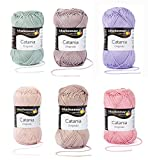 Schachenmayr Catania Wool Set Cotton Yarn Wool Package #2 pastel Wool package in cotton for knitting and crochet