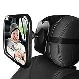 Dorart Baby Essential posteriore fronte specchio per sedile posteriore/child Safety Car Seat–Crystal Reflection via crash-tested & infrangibile retrovisore specchio convesso