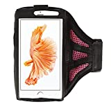 Pink/Schwarz Mesh Workout Running Gym Sport Armband Hülle für iPhone 7Plus/Samsung Galaxy S8/S7Edge/J7J5/A5/Motorola Moto G4/Moto Z/X Play/X Force/X Style