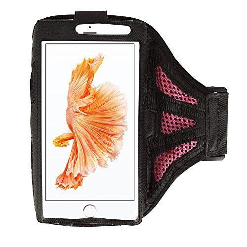 Rosa/Negro malla entrenamiento running brazalete deportivo para iPhone 7Plus/Samsung Galaxy S8/S7Edge/J7J5/A5/Motorola Moto G4/Moto Z Play/X Play/X Force/X Style