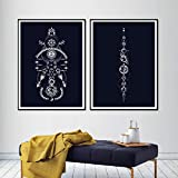 YDGG Moon Canvas Posters and Prints Wall Art Abstract Painting Pictures Home Decor-50x70cmx2 pcs no frame