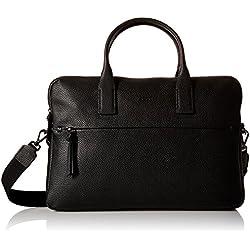 Ecco SP Slim, Bolsa de Medio Lado para Mujer, Negro (Schwarz 90000), 37x26.5x5.5 cm (B x H x T)