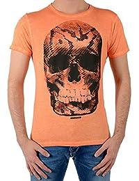 JAPAN RAGS t-shirt tete de mort orange