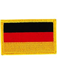 Patch écusson brodé drapeau allemagne allemand thermocollant Insigne backpack