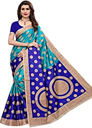 Yashika Women's Bhagalpuri Art Silk Saree With Un-stitched Bl