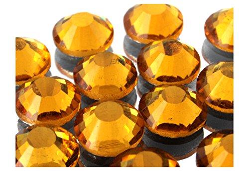 Eimass strass grandi ss30 (6,5 mm) di vetro dmc da fissare a caldo - 100 pezzi - non presente, Oro topazio