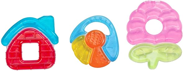 Mee Mee Multi-Textured Water Filled Teether Pack of 3 (Colour May Vary)
